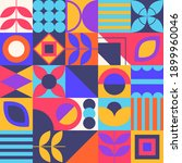 geometric shapes background.... | Shutterstock .eps vector #1899960046