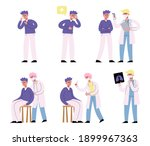 stages of stages of coronavirus ...   Shutterstock .eps vector #1899967363