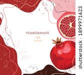 half a ripe pomegranate....   Shutterstock .eps vector #1899971623