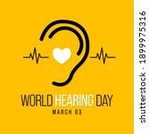 world hearing day is a campaign ... | Shutterstock .eps vector #1899975316