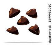 chocolate chips ingredient... | Shutterstock .eps vector #1899981010