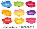 set of templates for logo...   Shutterstock . vector #1900000813