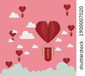 love falling from the sky ... | Shutterstock .eps vector #1900007020