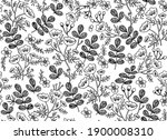 Flower And Leaf Seamless...