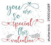valentines day background with... | Shutterstock .eps vector #1900016089