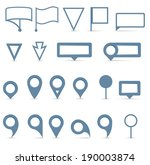 vector map pointer icons set on ... | Shutterstock .eps vector #190003874