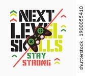 next level skill  vector... | Shutterstock .eps vector #1900055410