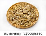 Pile Of Dried Minnow Fishes In...