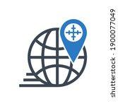 geo targetting related glyph...   Shutterstock . vector #1900077049