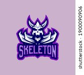 skeleton mascot logo gaming... | Shutterstock .eps vector #1900090906