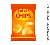 potato chips bag isolated on... | Shutterstock . vector #190010180