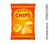 potato chips bag isolated on...   Shutterstock . vector #190010180