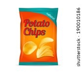potato chips bag isolated on... | Shutterstock . vector #190010186