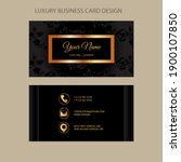 business card template. luxury... | Shutterstock .eps vector #1900107850