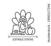 thanksgiving linear icon.... | Shutterstock .eps vector #1900117246