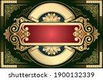 golden ornate decorative... | Shutterstock .eps vector #1900132339