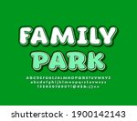vector eco emblem family park....   Shutterstock .eps vector #1900142143