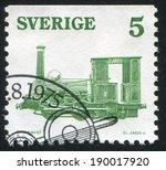 sweden   circa 1975  stamp... | Shutterstock . vector #190017920