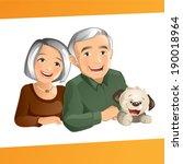 grand parents | Shutterstock .eps vector #190018964