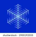 vector glowing snowflake ... | Shutterstock .eps vector #1900192033