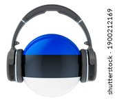 Headphones With Estonian Flag ...