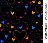 seamless simple pattern. pink ... | Shutterstock . vector #1900213030