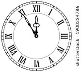 old clock face vector icon on...   Shutterstock .eps vector #1900234786