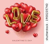 happy valentine's day banner.... | Shutterstock .eps vector #1900235740