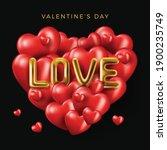 happy valentine's day banner....   Shutterstock .eps vector #1900235749