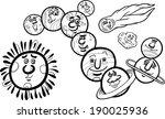 black and white cartoon... | Shutterstock . vector #190025936