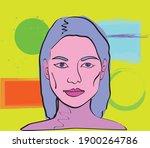 colorful surrealist vector... | Shutterstock .eps vector #1900264786