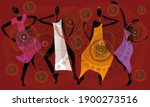 african dances  ethnic clothes  ... | Shutterstock .eps vector #1900273516