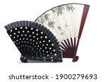 Two Beautiful Traditional Fans  ...