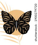 abstract poster with butterfly. ... | Shutterstock .eps vector #1900279720