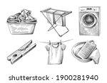 hand drawn sketch set of... | Shutterstock .eps vector #1900281940