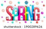 the word 'spring' with the... | Shutterstock .eps vector #1900289626