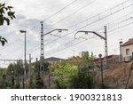 Train Tracks. Street In The...