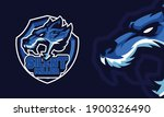 angry wolf head sports logo... | Shutterstock .eps vector #1900326490