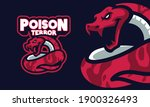 red rattlesnake sports logo... | Shutterstock .eps vector #1900326493