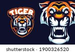 angry tiger head mascot sports... | Shutterstock .eps vector #1900326520
