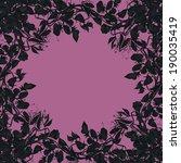 sweet pea flowers frame. | Shutterstock . vector #190035419
