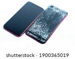 Broken Phone On A White...