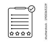 assessment vector icon on white ... | Shutterstock .eps vector #1900365229