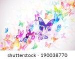butterflies background | Shutterstock . vector #190038770