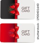 two gift cards set isolated... | Shutterstock .eps vector #1900401640