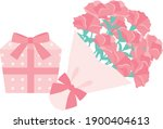 the bouquet of pink carnation... | Shutterstock .eps vector #1900404613