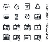 time icons set | Shutterstock .eps vector #190040840