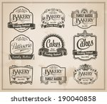 Vintage Retro Bakery Labels An...
