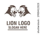 a lion animal logo template | Shutterstock .eps vector #1900412323