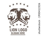 a lion animal logo template | Shutterstock .eps vector #1900412326